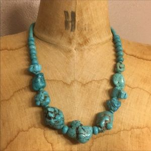 Jewelry - Turquoise Howlite Statement Necklace